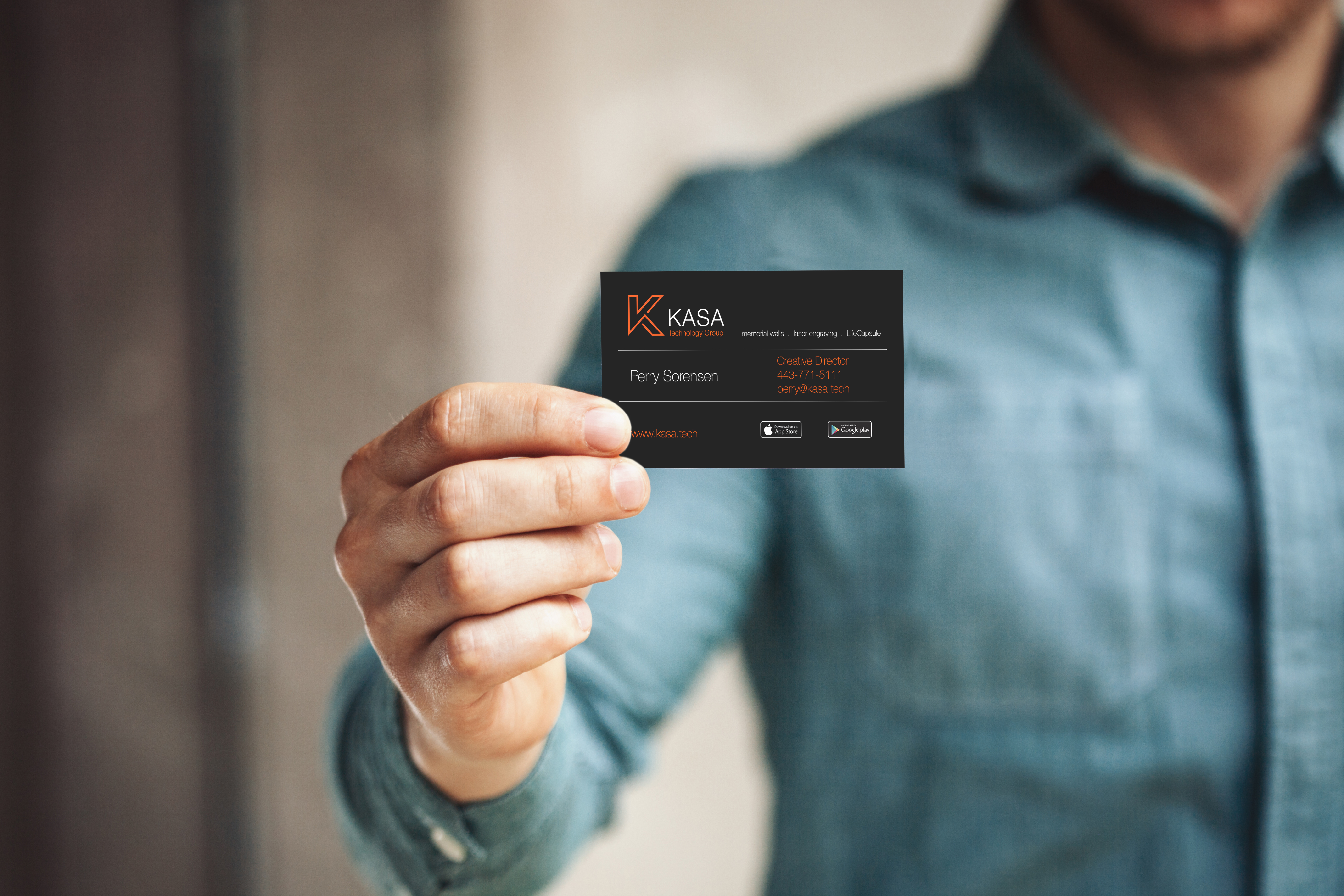 Business card design for Kasa Technology Group
